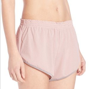 Free People Movement Get Physical Pink Mesh Shorts